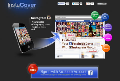 Fun – Une couverture Facebook avec vos photos Instagram