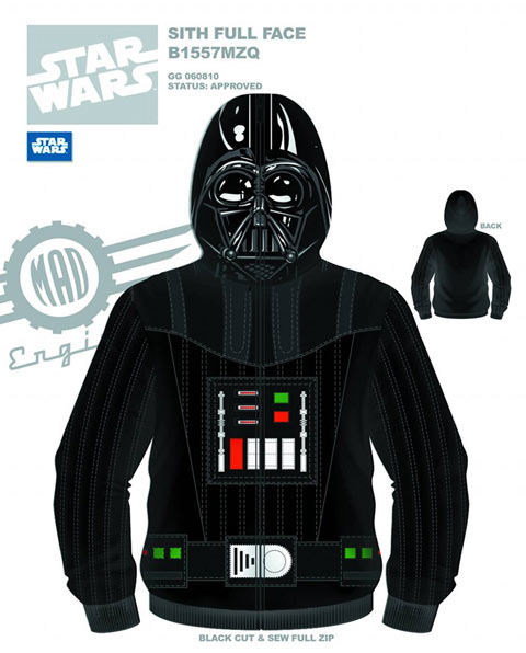 Des sweats à capuche Star Wars, Dark Vador & Storm Trooper !