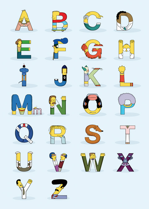 typographie-simpsons