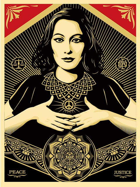 New limited print by Obey – Peace and Justice Women