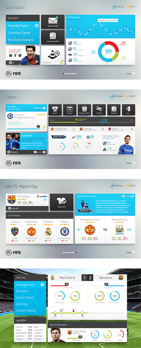 UI/UX – Fifa Interface Concept
