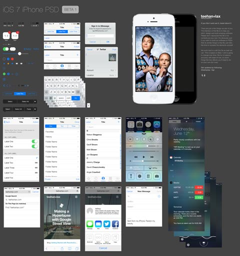 Ressources – iOS 7 le GUI PSD complet