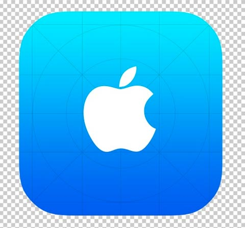 App Icon Template pour iOS6, iOS7 et Android