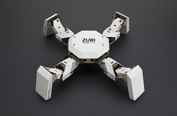 diy zuri 01 un robot en programmable en papier et carton. Black Bedroom Furniture Sets. Home Design Ideas