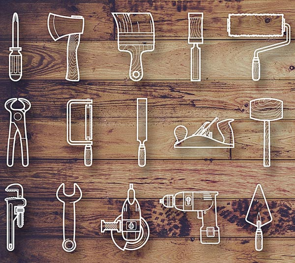 line-icons-outils-bricolage_1