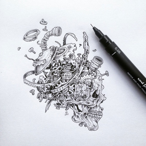 De superbes illustrations la main par kerby rosanes for Kerby rosanes