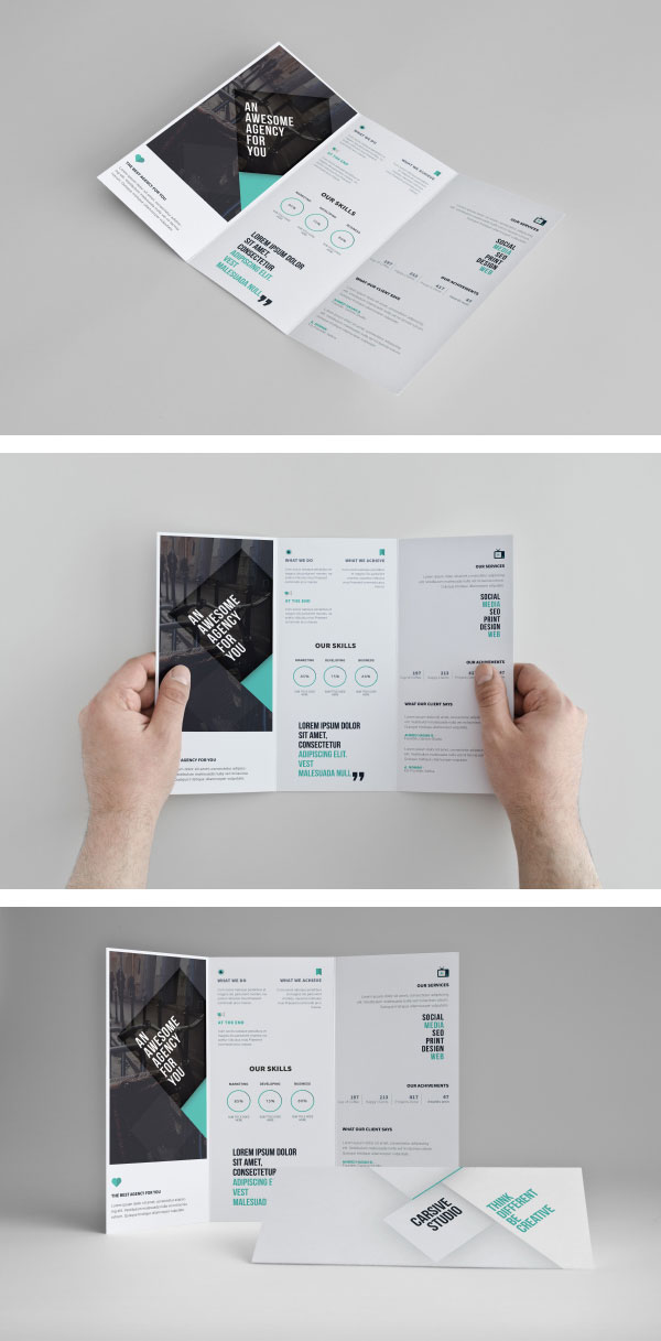 Favorit Ressources] - 10 mockups de brochures au format PSD FH91