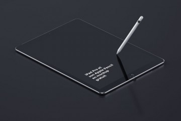 iPad Pro and Pencil free mockup