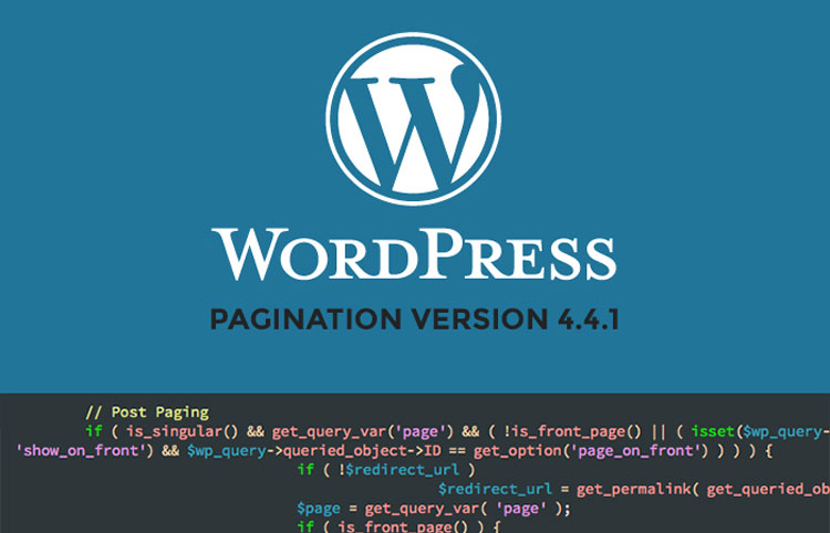 wordpress problème pagination version 4.4.1