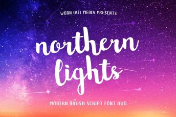 Typo-gratuite-Northern-lights_1