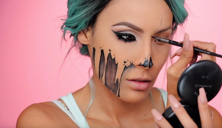 Melting skull le plus beau maquillage pour halloween - Video maquillage halloween ...