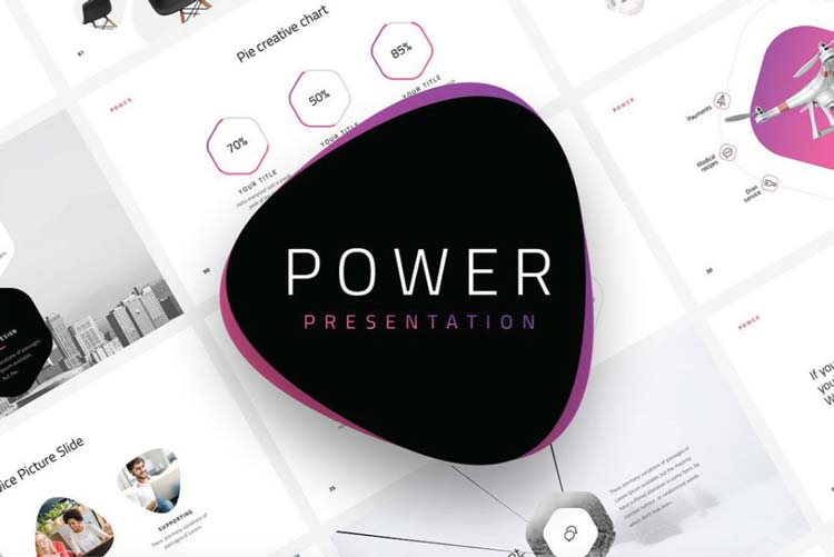 Power Un Template Powerpoint De Plus De 120 Slides